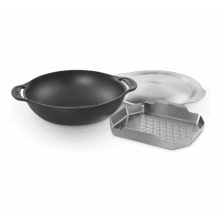 Ensemble wok et panier vapeur