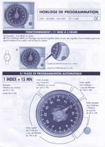 horloge de programmation 2